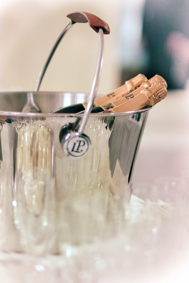 champagne in a silver ice bucket during Tiger Gala, Knightsbridge, London