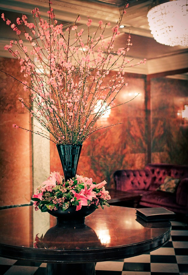The foyer of the Manderin Oriental Hotel, Knightsbridge, London