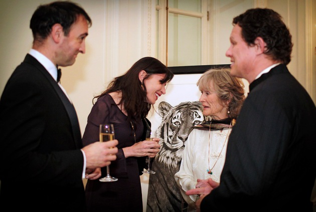 Alistair McGowen, Ronni Ancona, Virginia McKenna and Will Travers, CEO of Born Free, greeting at TIger Gala