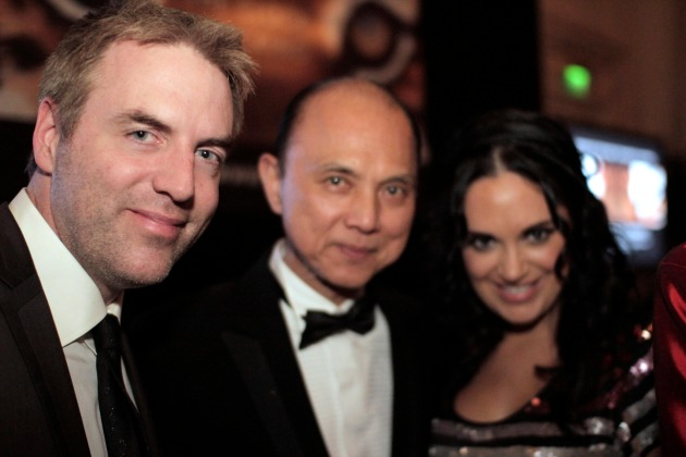 Donal McIntyre and wife with Jimmy Choo