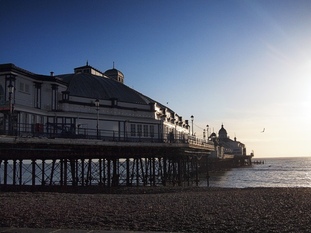 Eastbourne pier in winter sun