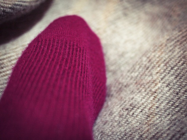 Mulberry cashmere Brora sock