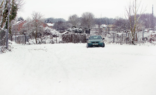 Vauxhall Astra stuck in the snow