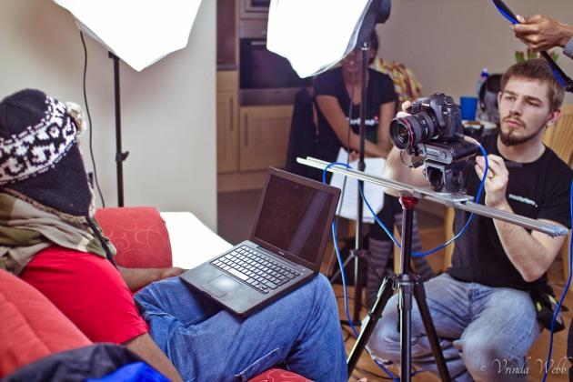 Rob Macfarlane filming A Bess Pelau